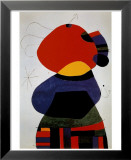 Vrouw met drie haren Poster van Joan Miró