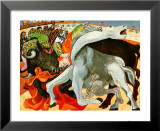 The Bullfight (gold foil text) Pósters por Pablo Picasso