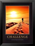 Uitdaging, golfbaan met Engelse tekst: Challenge Poster