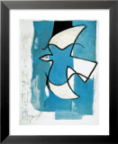 L'Oiseaux Bleu et Gris Poster van Georges Braque