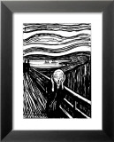 Scream Print by Edvard Munch