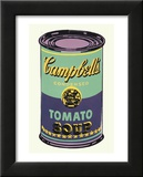 Campbell's Soup Can, 1965 (Green and Purple) Poster by Andy Warhol