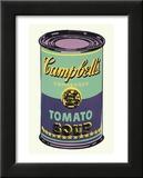 Campbells soppburk, 1965, grön och lila Affischer av Andy Warhol