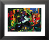 Abstract with Cattle Poster von Franz Marc