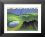 Mountains and Lake Láminas por Georgia O'Keeffe