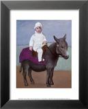 Paulo auf einem Esel Poster von Pablo Picasso