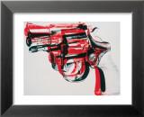Revolver, ca.1981-1982 (zwart en rood op wit) Poster van Andy Warhol