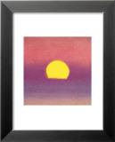 Auringonlasku, n. 1972, 40/40, laventeli Posters tekijänä Andy Warhol