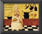 Good Food, Good Wine, Good Life Prints by Dan Dipaolo