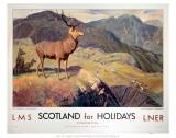 Scotland for Holidays Affischer
