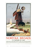 Norfolk Broads Windmill Julisteet