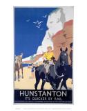 Hunstanton Woman on Horse Art