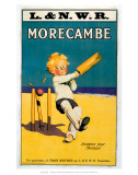 Morecambe, Loosens Your Stumps, Cricket on the Beach Posters