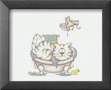 Chats de salle de bain IV Art par A. Langston