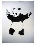 Skydende panda Plakater