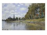 Kanal Bei Zaandam Giclée-Premiumdruck von Claude Monet