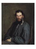Portrait of Leon Tolstoy Posters av Ivan Nikolaevich Kramskoi