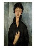 Frau mit blauen Augen Giclée-Premiumdruck von Amedeo Modigliani