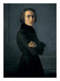 Porträt von Franz Liszt Kunstdrucke von Henri Lehmann