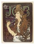 Job Premium Giclee-trykk av Alphonse Mucha