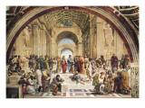 Skolan i Aten Affischer av Raphael,