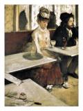 In a Café or L'Absinthe (Dans Un Café Ou L'Absinthe) Plakater av Edgar Degas