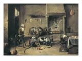 Monkeys in the Kitchen Kunstdrucke von David Teniers the Younger