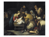The Adoration of the Shepherds Posters tekijänä Bartolome Esteban Murillo
