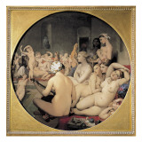 The Turkish Bath Plakat af Jean-Auguste-Dominique Ingres