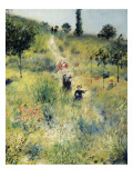 The Path Through the Long Grass Affischer av Pierre-Auguste Renoir