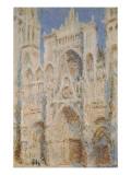 Rouen Cathedral, West Façade, Sunlight Giclée-Premiumdruck von Claude Monet