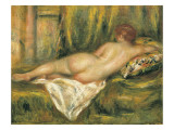 Reclining Nude from the Back, Rest after the Bath Poster von Pierre-Auguste Renoir