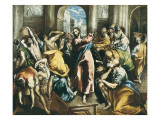 Christ Driving the Traders from the Temple Arte por  El Greco