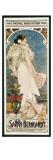 Farewell American Tour of Sarah Bernhardt Plakat av Alphonse Mucha