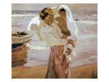 After the Bath Premium Giclee Print by Joaquín Sorolla y Bastida