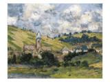 Landscape, Vetheuil Láminas por Claude Monet