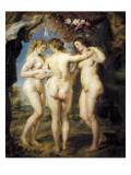 The Three Graces Lámina por Peter Paul Rubens
