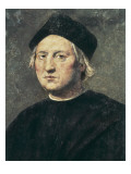 Portrait of Christopher Columbus Poster af Ridolfo Ghirlandaio