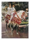 Portraits of Elena and Maria Wearing Old Valencian Dresses Posters par Joaquín Sorolla y Bastida