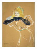 "Yvette Guilbert Singing ""Linger Longer Loo"" Prints by Henri de Toulouse-Lautrec"