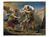 Aeneas and His Family Fleeing Troy Poster tekijänä Pompeo Batoni