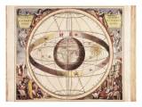 Scenographia Systematis Mundani Ptolemaici, Representation of the Ptolemaic Universe Poster por Andreas Cellarius