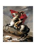 Napoleon ylittämässäSaint Bernardia Juliste tekijänä Jacques-Louis David