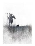 Death rides a horse Giclée-Premiumdruck von Alex Cherry