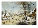 Winter Landscape Kunstdruck von Pieter Brueghel the Younger