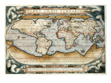 """""""Theatrum Orbis Terrarum"""" (Anntwerp, 1570) Plakater av Abraham Ortelius"""