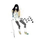 Alice Giclée-Premiumdruck von Manuel Rebollo