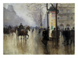 Boulevard Des Italiens in Paris Art by Jean Béraud