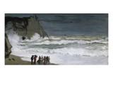 Rough Sea at Etretat Giclée-Premiumdruck von Claude Monet