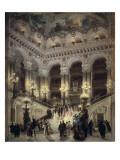 The Stairway of the Opera, Paris Poster van Jean Béraud